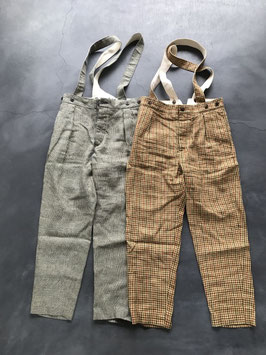 Nigel cabourn woman / Workwear pant  linen old check