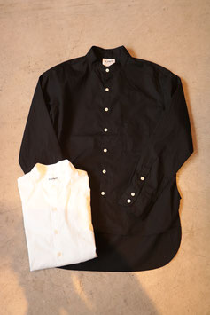 H.UNIT /エイチユニット Broadcloth bandcollar long sleeves shirt  H-SH006