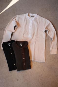 BLACK SIGN/ブラックサイン Henley Neck Amish Under Wear  bsfn-15301B