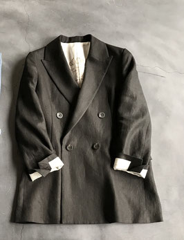 Robes&confections / Irish linen twill double breasted loosey tailored jacket