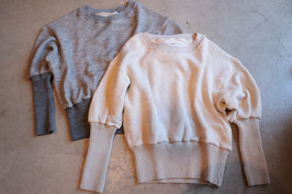 Robes&Confections/ リブスウェットトップ Large loop sweat rib sleeve pullover