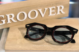 GROOVER SPECTACLES  BARYON  Black/Red×ブルーレンズ
