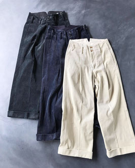 Robes&confections/Hand-dyed Corduroy Baggy Pants