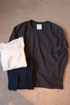 Re made in tokyo japan Light Waffle Pocket Pull Over 4418S-CT