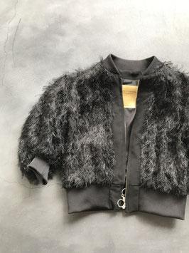 Robes&confections / Cut fringe jacquard Zip up Blouson