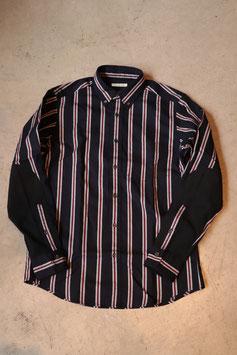 San Franciscoサンフランシスコ レジメンタルストライプ スウェードエルボーパッチシャツ 700071648