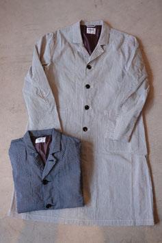H.UNIT/エイチユニット Coad stripe long atelier coat H-CT001