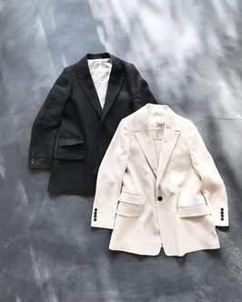 Robes&confections / Irish linen twill loosey tailored jacket