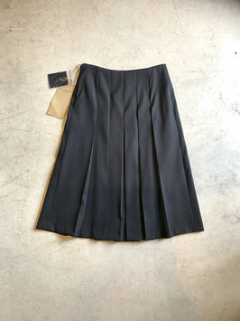 Robes&Confections/Double woven doeskin pleated skirt