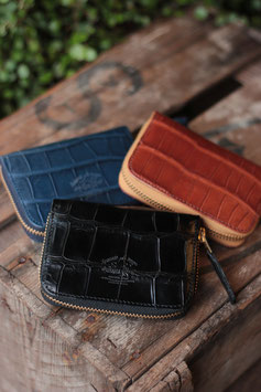 THE SUPERIOR LABOR /シュペリオールレイバー crocodile zip small wallet