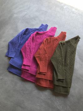 Robes&confections / ラムウールレイヤードケーブルセーター