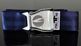 Original Am Safe Flugzeugschnalle mit SPANTAX  Logo | royalblau !