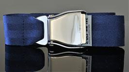 Traktionsgurt mit Am Safe  Schnalle und royalblaues Gurtband - hochglänzend.