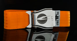 Original Am Safe Flugzeugschnalle mit SPANTAX  Logo !- orange