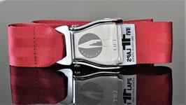 Original Am Safe Flugzeugschnalle mit SPANTAX  Logo !- rot