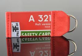 Schlüsselanhänger AIR Berlin A321 Raft Version
