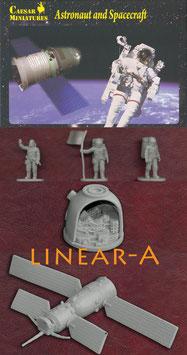 CAESAR HB22 ASTRONAUT AND SPACECRAFT