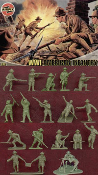 AIRFIX A01729 WWI AMERICAN INFANTRY 1:72 - ALTE BOX
