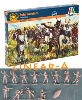 ITALERI 6051 Zulu Warriors – Colonial Wars