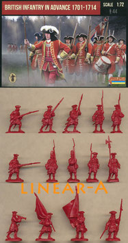 STRELETS 230  British Infantry in Advance 1701-1714