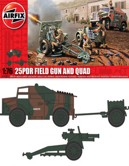 AIRFIX A01305  25pdr Field Gun and Quad 1:76