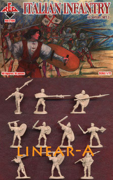 REDBOX 72100 Italian Infantry 16th Cent. Set 2