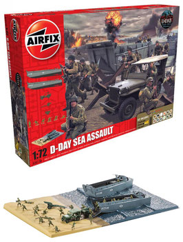 AIRFIX A50156 D-Day The Sea Assault Gift Set 1:72