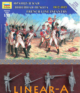 ZVEZDA 6802 FRENCH LINE INFANTRY - NAPOLEONIC WAR