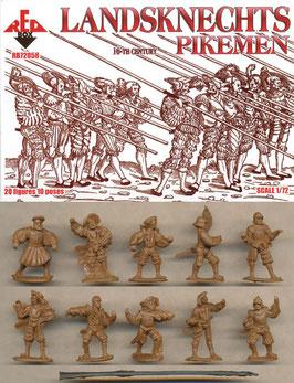 REDBOX 72058 LANDSKNECHTS - PIKEMEN (16th Century)