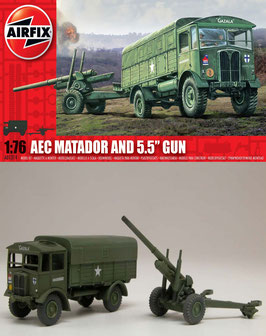 "AIRFIX A01314  AEC Matador and 5.5"" Gun 1:76"