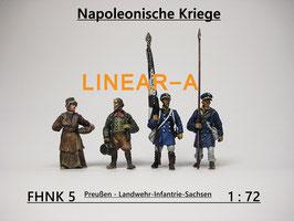 munich-Kits FHNK05 Preußische Landwehr Infantry Sachsen um 1813 Set 2