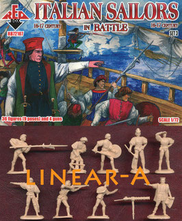 REDBOX 72107 Italian Sailors in Battle 16-17 centry SET 3
