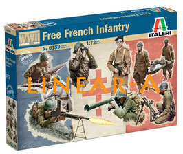 ITALERI 6189 WWII FREE FRENCH INFANTRY