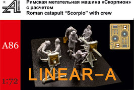 "ALEXMINIATURES 72A86 Roman Catapult ""Scorpio"" with Crew"