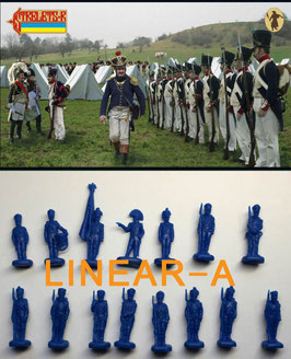 Strelets 222 French Infantry in Summer Uniform Standing Order Arms