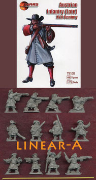 MARS 72102 AUSTRIAN INFANTRY 17th CENTURY (LATE)