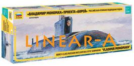 "ZVEZDA 9058 BOREY-CLASS RUSSIAN NUCLEAR BALLISTIC SUBMARINE ""VLADIMIR MONOMAKH"""