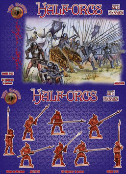 DARK ALLIANCE ALL 72015 HALF-ORCS - PIKEMAN SET 1