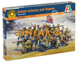 ITALERI 6187 BRITISH INFANTRY AND SEPOYS