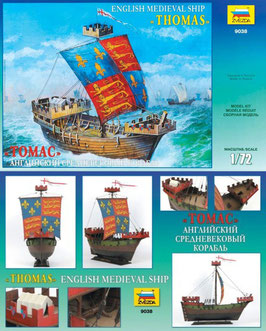 "ZVEZDA 9038 ENGLISH MEDIEVAL SHIP ""THOMAS"""