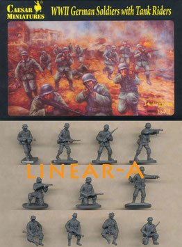 CAESAR H077 WWII GERMAN SOLDIERS WITH TANK RIDERS