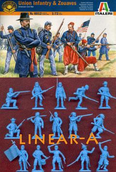 ITALERI 6012 Union Infantry & Zouaves