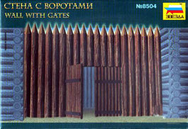 ZVEZDA 8504 FORTRESS WOODEN WALL WITH GATES