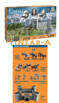 Italeri 6185 100 Years War 1337/1453 Castle Under Siege Battleset