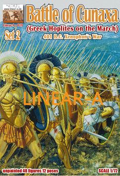 "LINEAR-A 019 Battle of Cunaxa 401 B.C. ( Xenophon`s War) Set 2 ""Greek Hoplites on the March"""