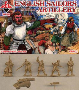 REDBOX 72083 ENGLISH SAILORS ARTILLERY 16-17th Century