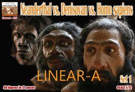 LINEAR-A 037 Neanderthal vs. Denisovan vs. Homo sapiens  Set 1