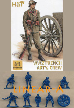 HÄT 8162 WWII FRENCH ARTILLERY CREW