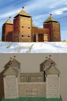"ZVEZDA 8501 Medieval Fortress ""Wooden"""