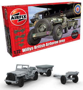 AIRFIX A02339  Willys British Airborne Jeep 1:72